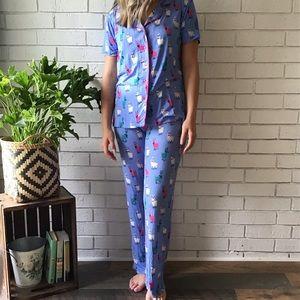Munki Munki | 2 Piece Pajama Set Hipster Llama NEW
